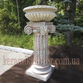 Керамическая колонна, пьедестал на 2сегмента, d=220мм с ионической всесторонней капителью и базой купить в Украине для оформления свадеб