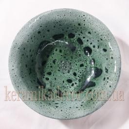 """Керамическая глазурованная тарелкоа со славянским символом """"Алатырь"""" купить для подарка, для дома"""
