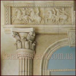 Керамическая полу колонна с коринфской  капителью D=220мм купить Украина