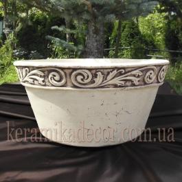 Керамический горшок, плошка v-8430b